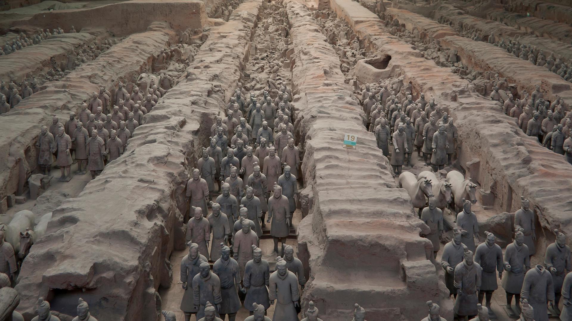 El arte funerario. Los Guerreros de Xi´an